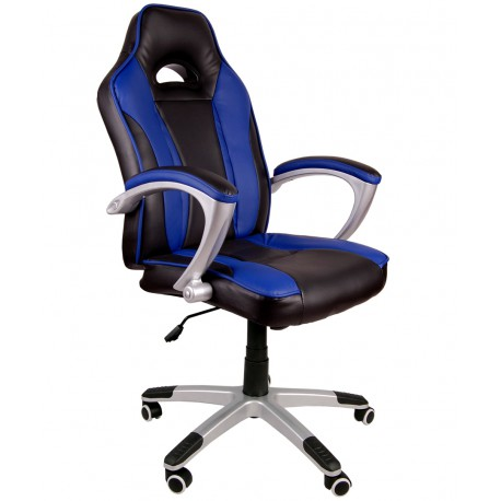 Fotel biurowy Caro czarno-niebieski