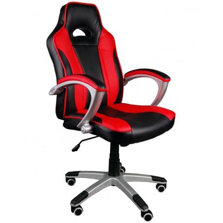 Fotel biurowy Caro czarno-czerwony