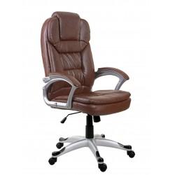 Fotel biurowy GIOSEDIO brązowy,model BSM003