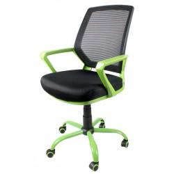 Fotel biurowy FBB czarno-zielony z siatką