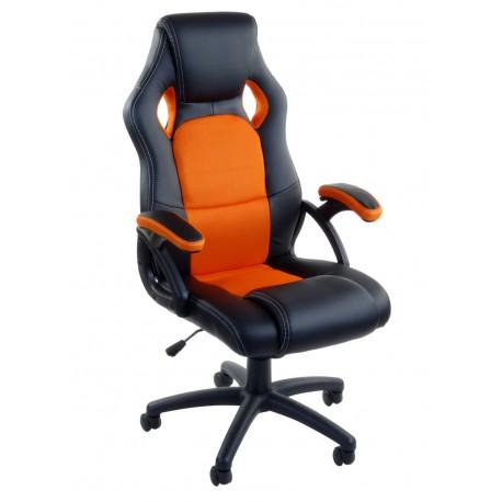 Fotel biurowy RCA czarno-pomarańczowy