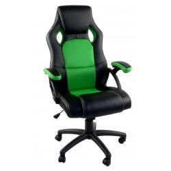 Fotel biurowy RCA czarno-zielony