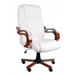 Fotel biurowy GIOSEDIO biały z masażem, model BSL002M