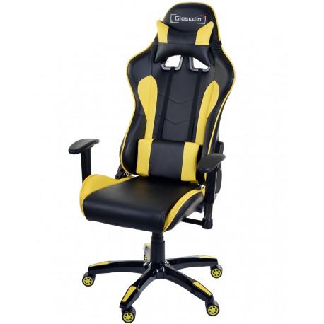 Fotel gamingowy GSA czarno-żółty