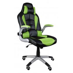 Fotel biurowy BST047 czarno-zielony