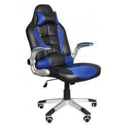 Fotel biurowy BST048 czarno-niebieski