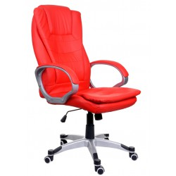 Fotel biurowy BSU czerwony