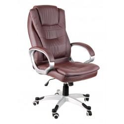 Fotel biurowy BSU brązowy