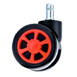 Kółka gumowe czarno-czerwone sportowe