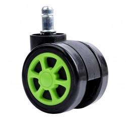 Kółka gumowe czarno-zielone sportowe
