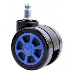 Kółka gumowe czarno-niebieskie sportowe