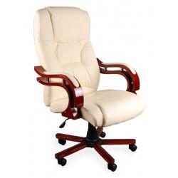 Fotel biurowy GIOSEDIO ecru z masażem, model BSL005M
