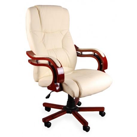 Fotel biurowy LUX ecru z masażem