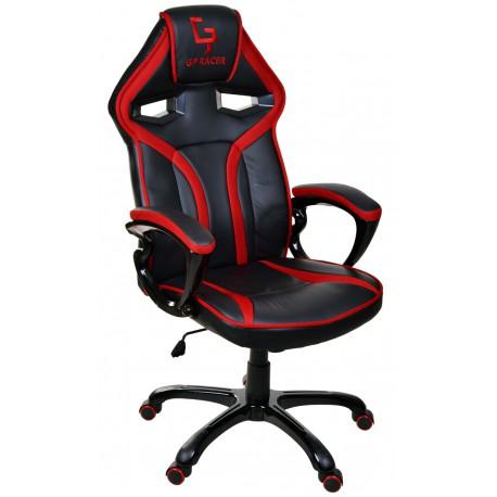 Fotel gamingowy GP Racer czarno-czerwony