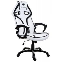 Fotel gamingowy GP Racer biało-czarny