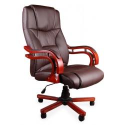 Fotel biurowy LUX brązowy z masażem 2-Kat.