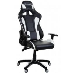 Fotel biurowy GIOSEDIO czarno-biały,model GSA042 - 2 kat
