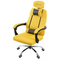 Fotel biurowy GIOSEDIO żółty, model GPX013