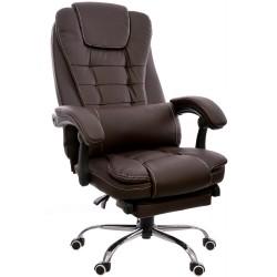 Fotel biurowy GIOSEDIO brązowy, model FBK003