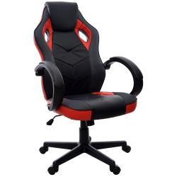 Fotel biurowy GIOSEDIO czarno-czerwony, model FBH041