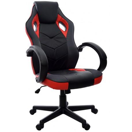 Fotel biurowy FBH czarno-czerwony