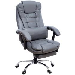 Fotel biurowy GIOSEDIO szary, model FBK011