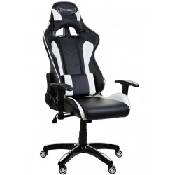 Fotel biurowy GIOSEDIO czarno-biały, GSA042 - 2 kat