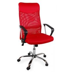Fotel biurowy BSX czerwony