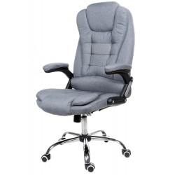 Fotel biurowy GIOSEDIO szary z tkaniny, model FBJ