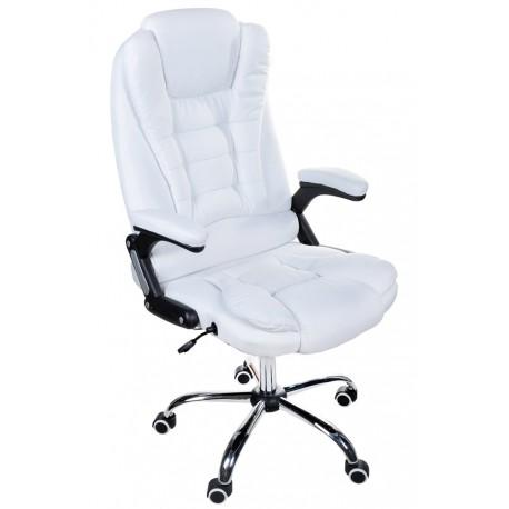 Fotel biurowy GIOSEDIO biały z tkaniny, model FBJ