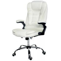 Fotel biurowy GIOSEDIO beżowy z tkaniny, model FBJ