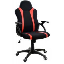 Fotel biurowy GIOSEDIO czarno-czerwony,model FBM041