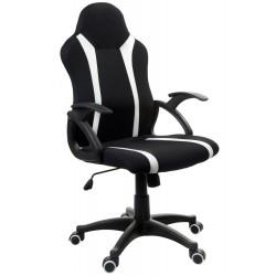 Fotel biurowy GIOSEDIO czarno-biały, model FBM042