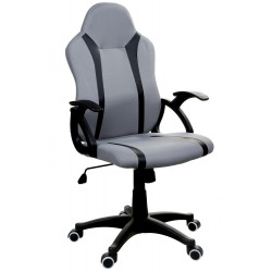 Fotel biurowy GIOSEDIO szaro-czarny, model FBM114