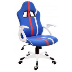 Fotel biurowy GIOSEDIO niebieski, model FBL008