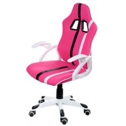 Fotel biurowy GIOSEDIO różowy, model FBL012