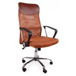 Fotel biurowy BSX brązowy