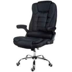 OFFICE ARMCHAIR BRUNO BLACK(WHITE THREAD)