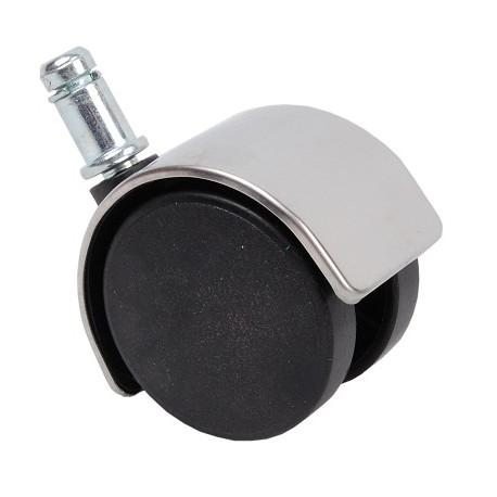 Kółka gumowe chromowane/czarne (5 szt.),model KGB-CH