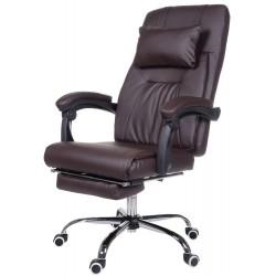 Fotel biurowy GIOSEDIO brązowy, OCA003