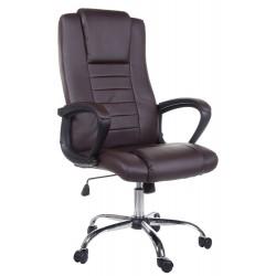Fotel biurowy GIOSEDIO brązowy, model FBS003