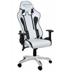 GAMING CHAIR GSA WHITE & BLACK