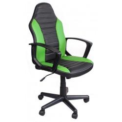 Fotel biurowy FBE czarno-zielony