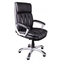Fotel biurowy czarny z białą siatką FBA042