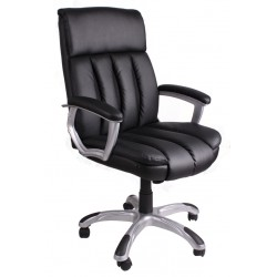 Fotel biurowy czarny z czarną siatką FBA044