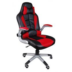 Fotel biurowy BST041 czarno-czerwony