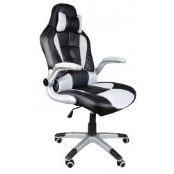 Fotel biurowy BST042 czarno-biały