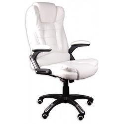 Fotel biurowy BRUNO biały z masażem