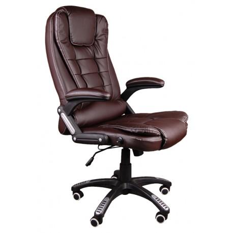 Fotel biurowy BRUNO brązowy z masażem
