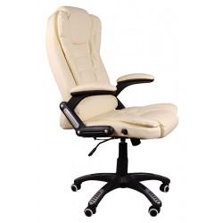 Fotel biurowy BRUNO beżowy z masażem